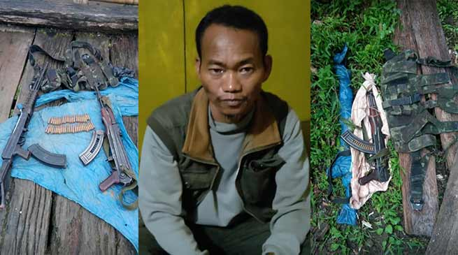 Army & Assam Rifles Apprehends Most Wanted Insurgent of NSCN (K-YA)
