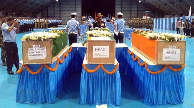 Assam: Wreath laying held for mortal remains of 4 Assam Regt JCOs