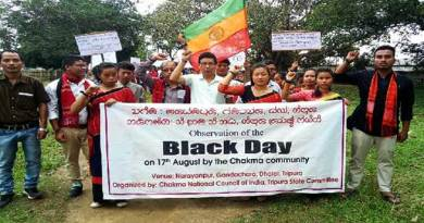 Chakmas observe ''Black Day'' in India and Bangladesh