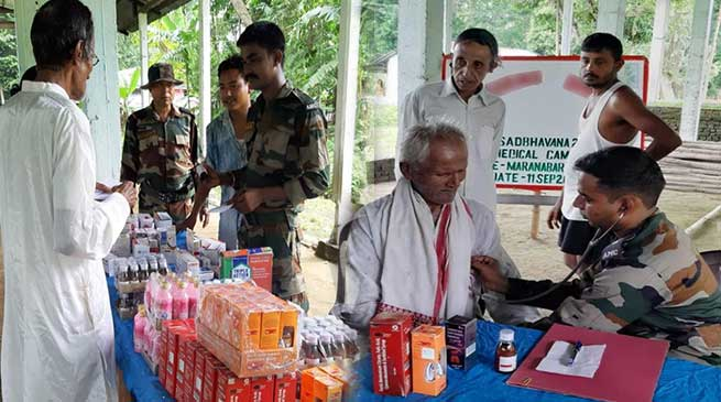 Assam: Army organises Medical Camp in Gohpur