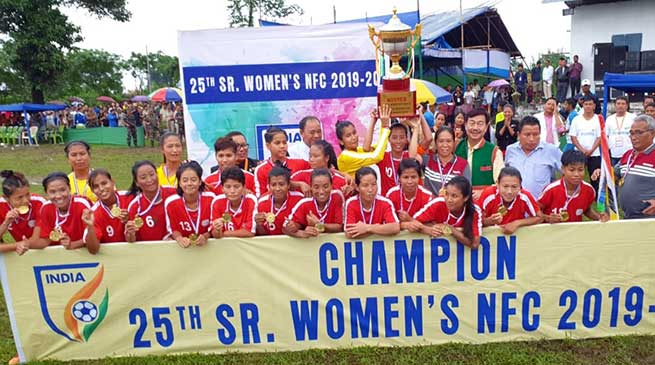Arunachal: Manipur lifts 25th Senior National Women Football trophy defeating Railways by 1-0
