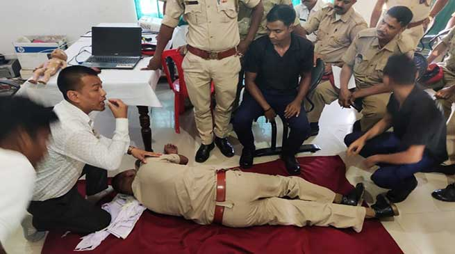 Assam: Police personnel of Hailakandi undergo first aid, trauma management training