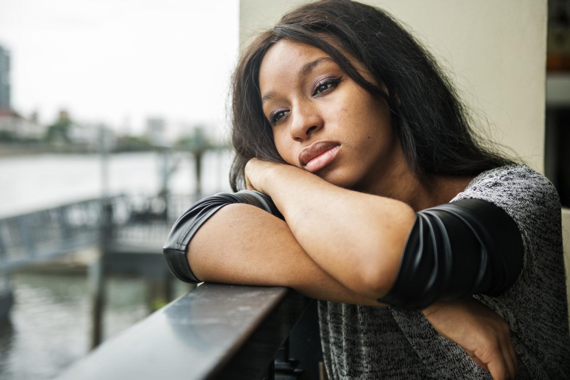 Image result for depressed black lady