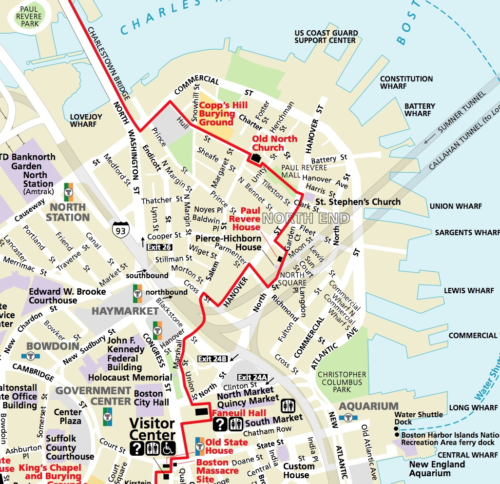 Historic Sites – Boston Tourist Attractions Map