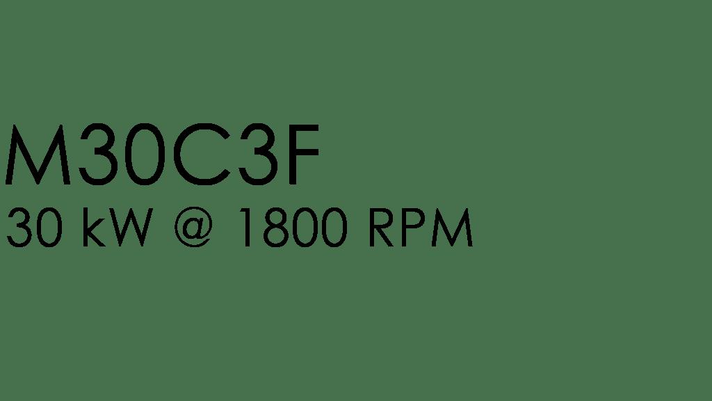 M30C3F: 30 kW @ 1800 rpm