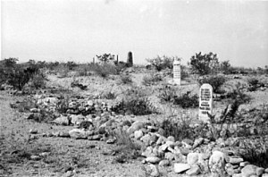 Boothill graveyard before restoration