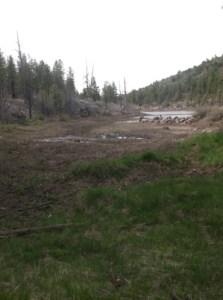 Santa Fe reservoir dropping rapidly. - NAG 05/17