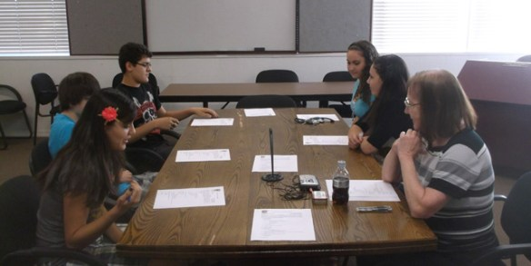 Left side, front to back: Chairperson Sylvia Cardenas, potential member Clint Mann, Sergio Cardenas. Right Side, Front to Back: Williams City Clerk Susan Kerley, potential member Caitlyn Fritsinger and Courtney Fritsinger