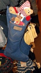 Western Outfitters is offering denim stockings by Wrangler for the holidays.