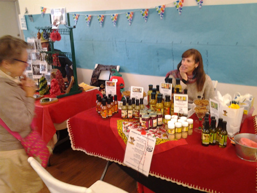 Rising Hy displays samples of their products locally made in Flagstaff.
