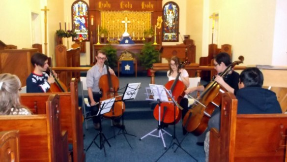 (L-R) George Teague, Brett Lindsay, Therese Cudmore, and Brittany Parker, Cello