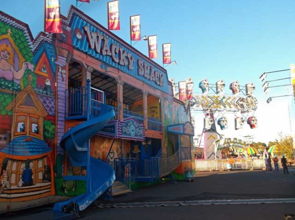 Brown's Amusement set up for Fall Carnival