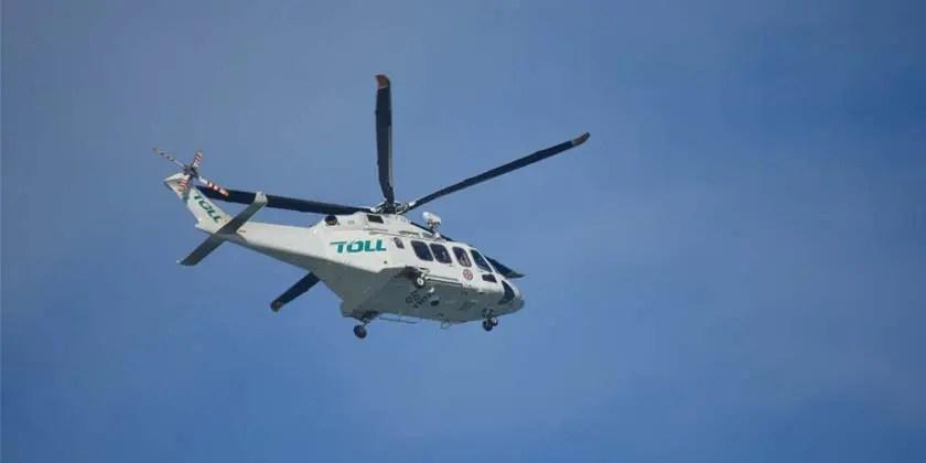 Air rescue at Scotland Island