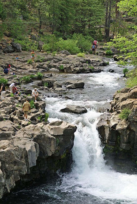 Lower McCloud Falls on the McCloud River. (Photo by John Soares)
