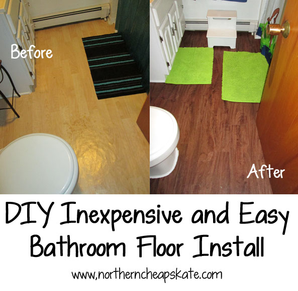 Easy Bathroom Flooring