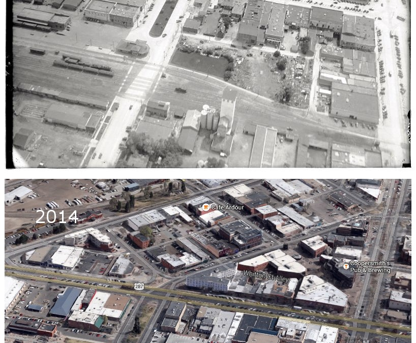 Then and Now: A roundabout and a train yard