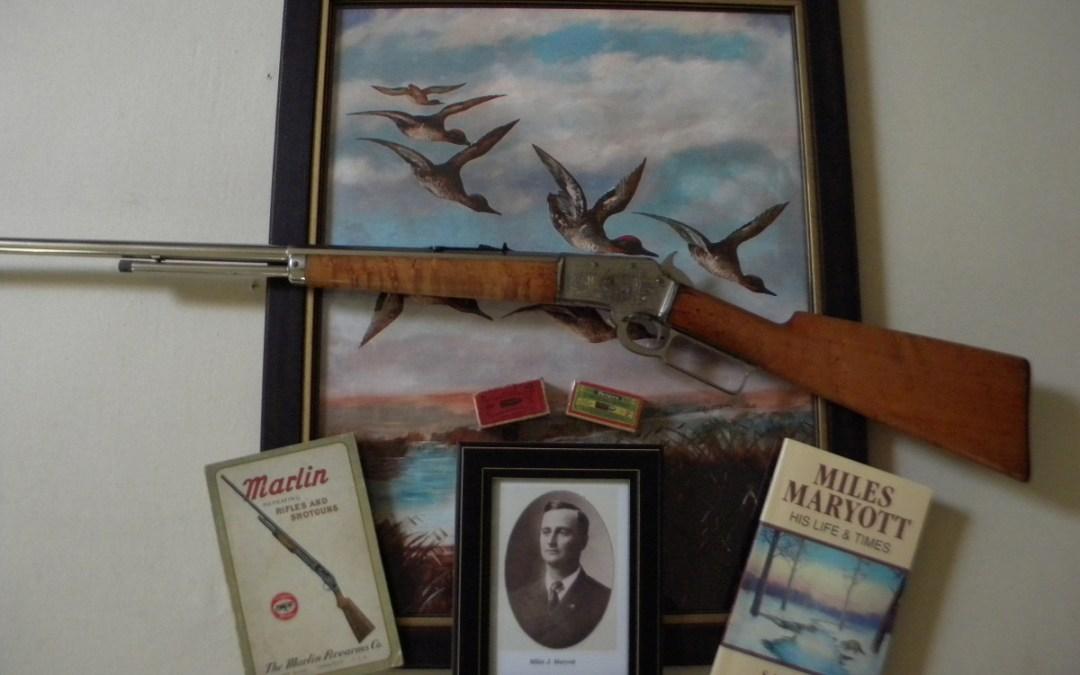 Miles Maryott: baseball player, taxidermist, artist, and expert marksman