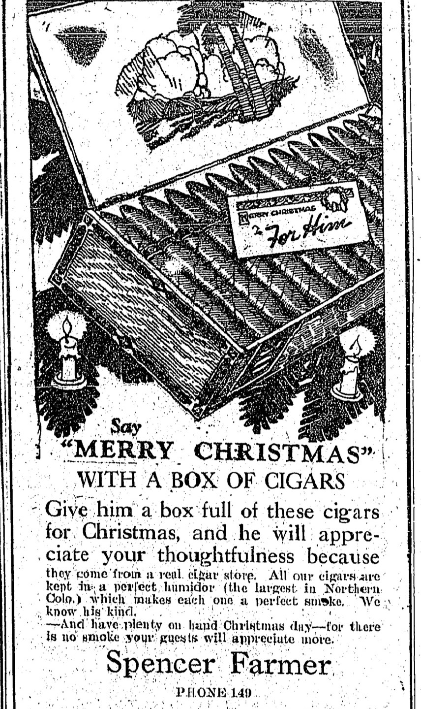Christmas Ads from 1916 and 1922