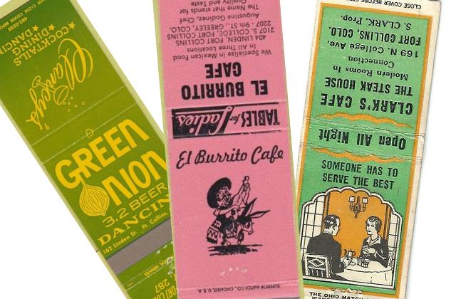 Matchbooks: a striking look back at some of Fort Collins' old restaurants