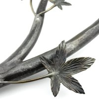 "26"" Handmade Iron Japanese Maple Tree Branch Sculpture ..."