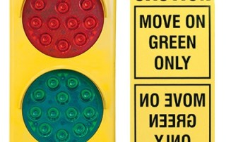 A complete communication system includes signs and flashing LED lights
