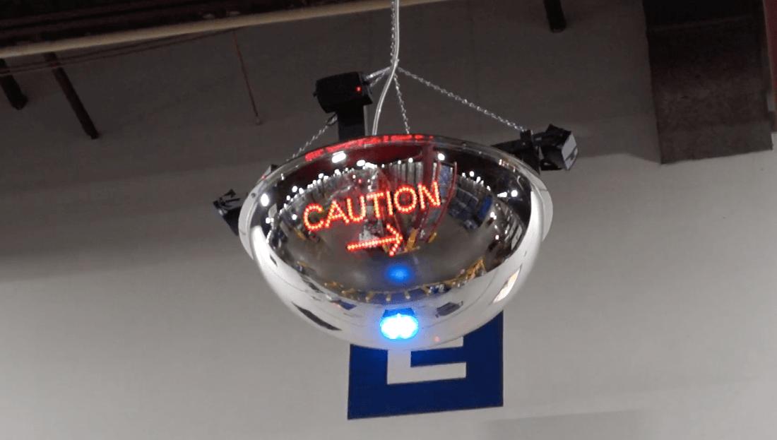 LED mirror alert dome