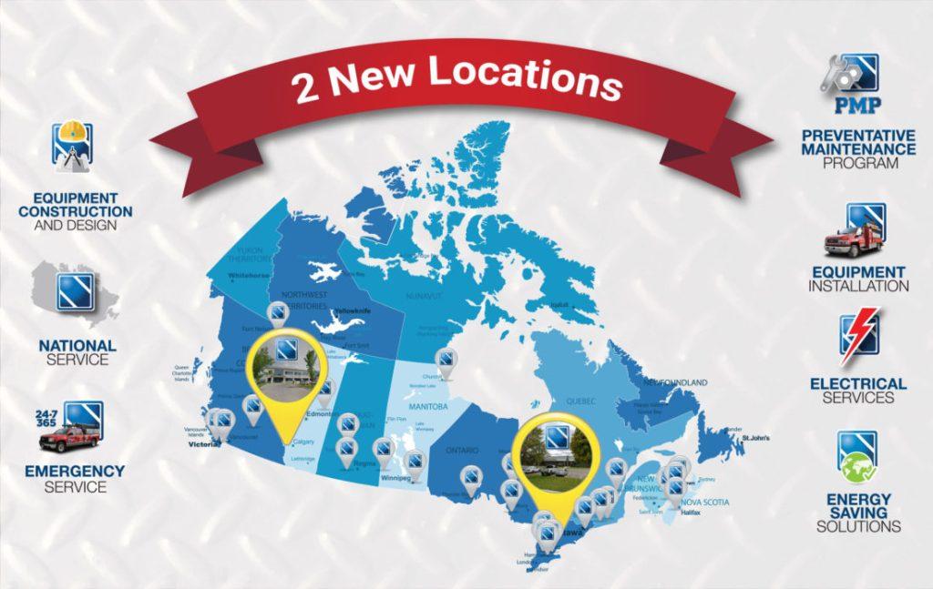New Locations in Calgary and Cambridge