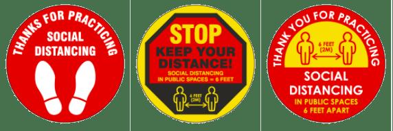 Social distancing floor marking