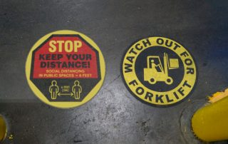 Stop and Forklift Floor Markings