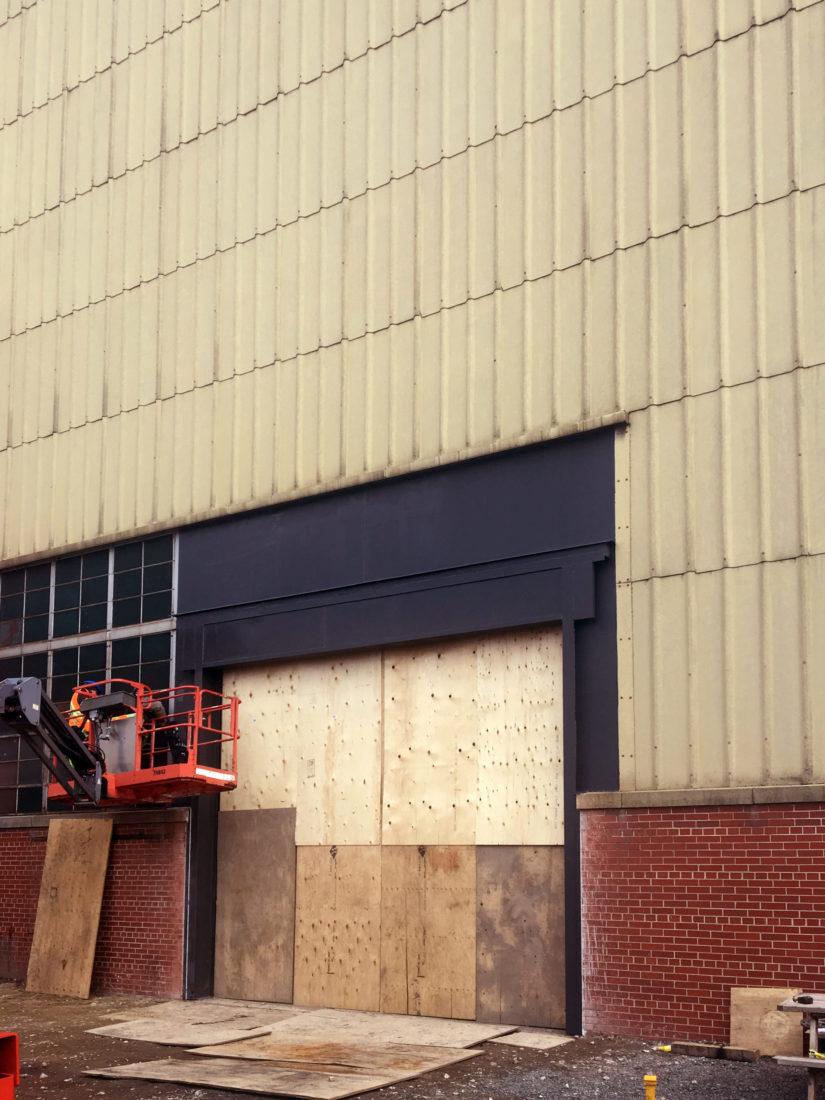 Construction high speed rubber door