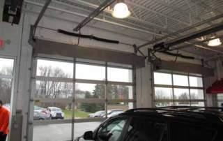 Industrial direct drive air curtain automotive garage dealership