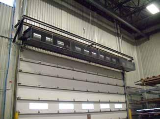 Industrial direct drive air curtain dock doors large shipping door