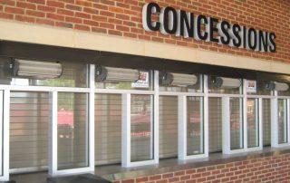 Restaurant drive thru window air curtain concessions
