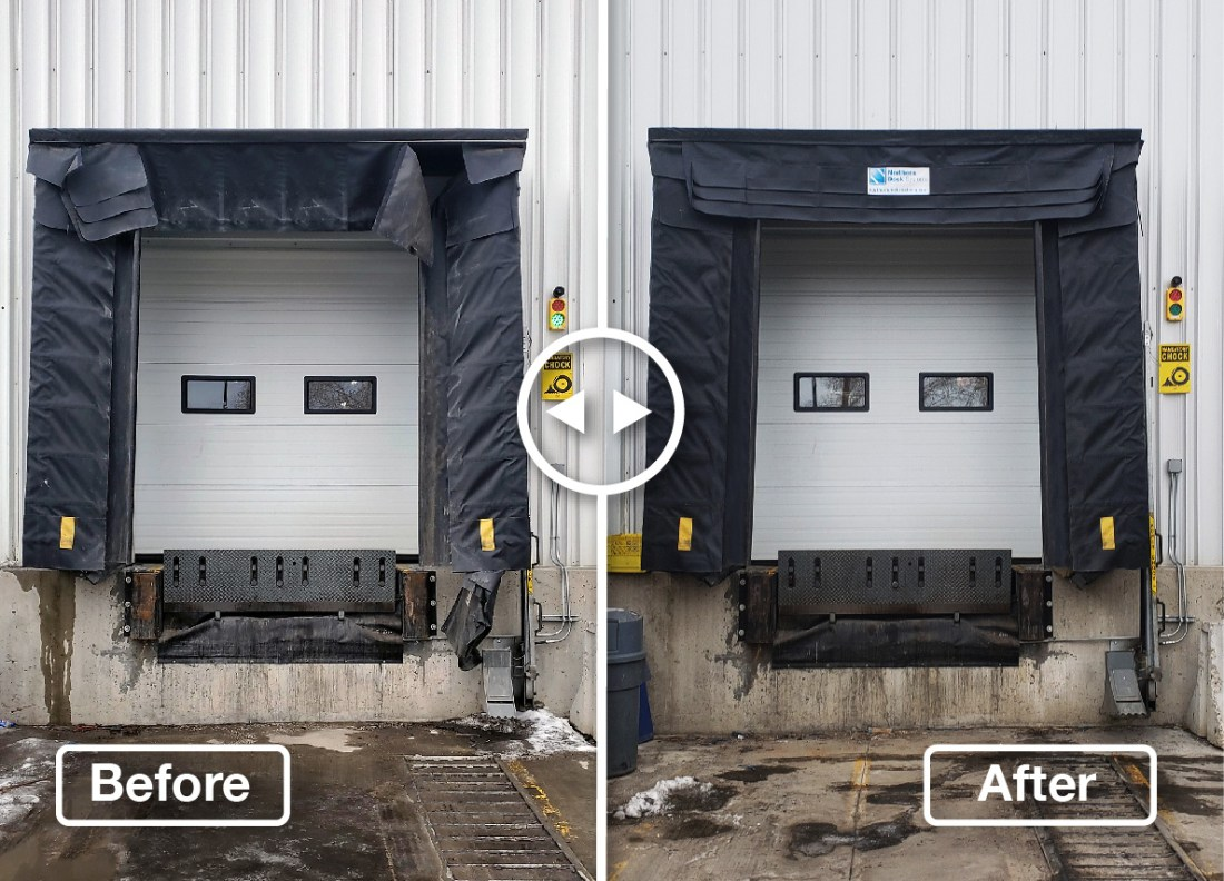 Before and After Head Curtain Replacement for Calgary Pepsi