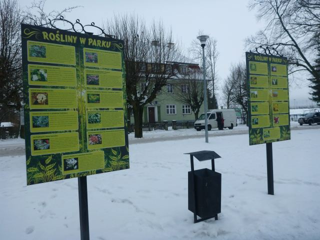 Boards in Park Miejski