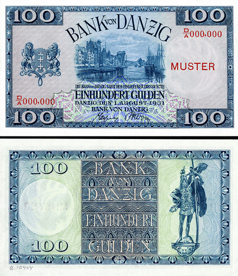 Gdańsk currency when it was basically a separate country - the Free City of Danzig
