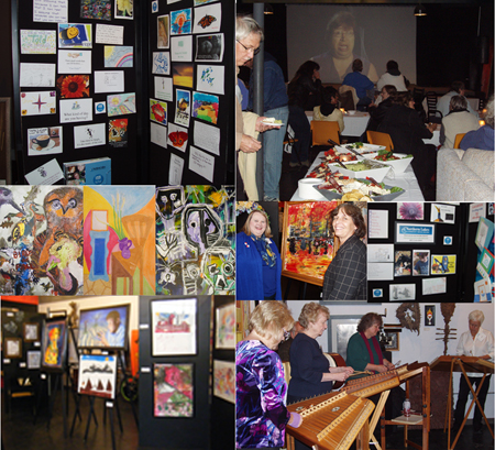 Art show collage