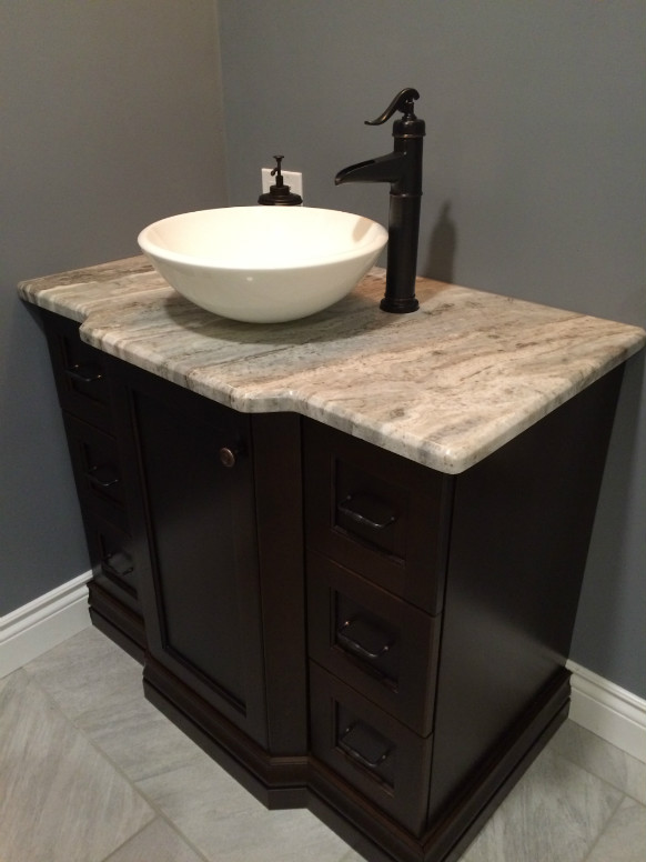Fantasy Brown Vanity Top with Bevel Edge Profile