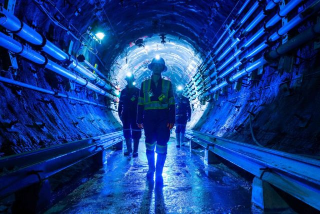 Workers underground at Cameco's 50%- owned Cigar Lake uranium mine in Saskatchewan. Credit: Cameco
