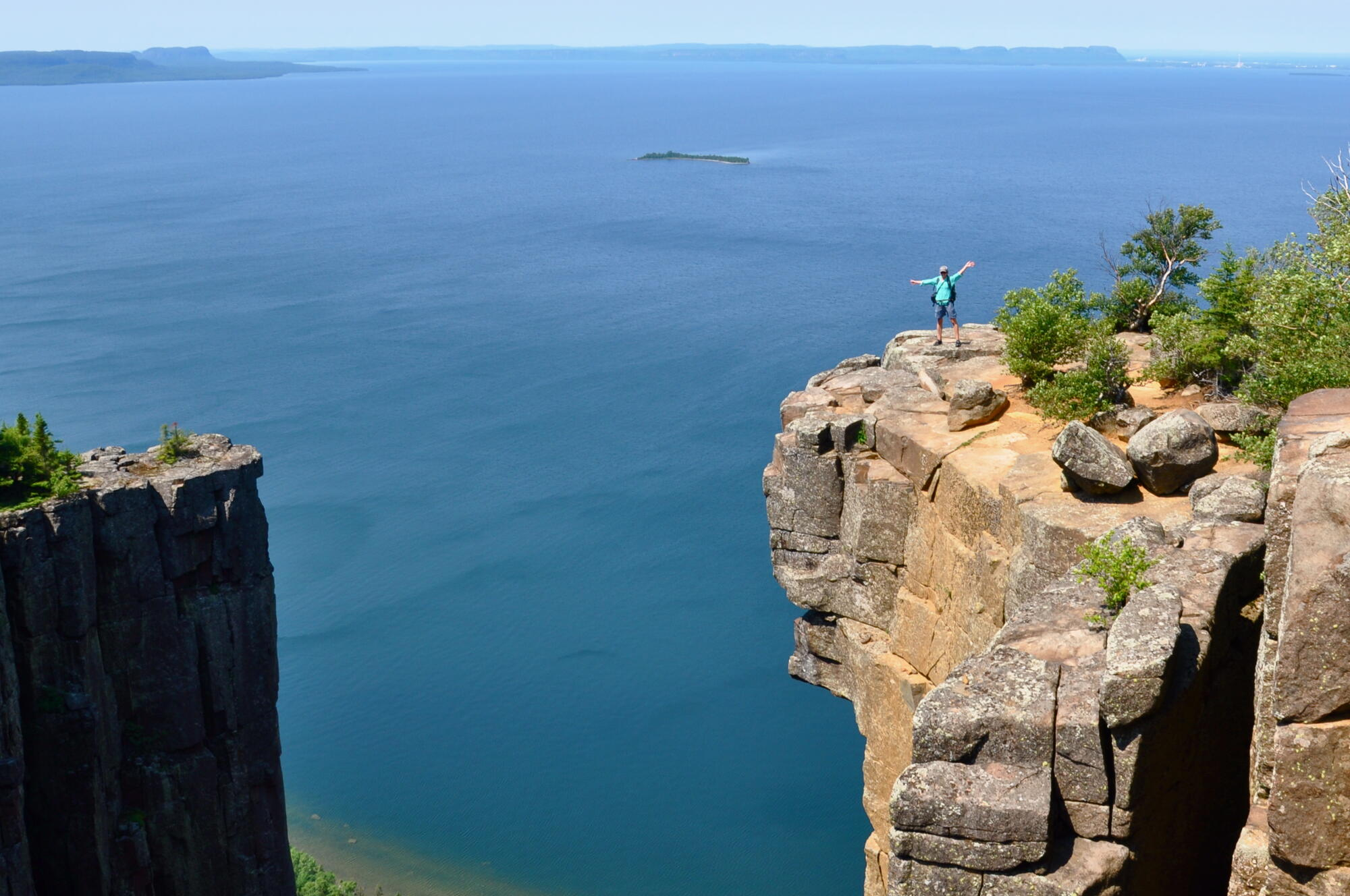 Hiking Top Of Giant Northern Ontario Travel