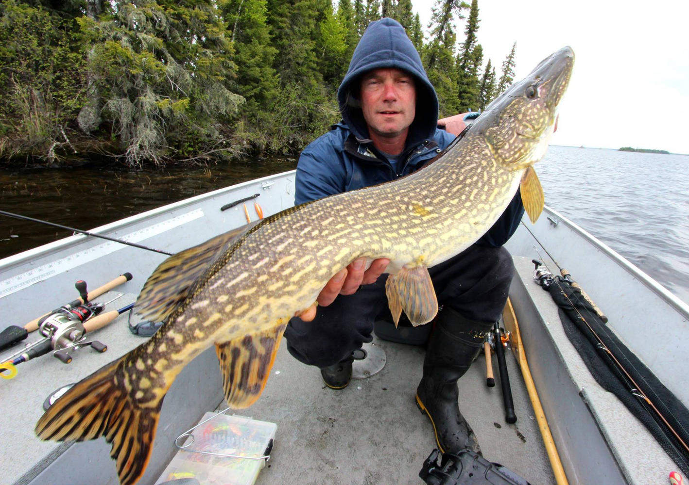 Fishing In Remote Lakes Ontario Canada Northern