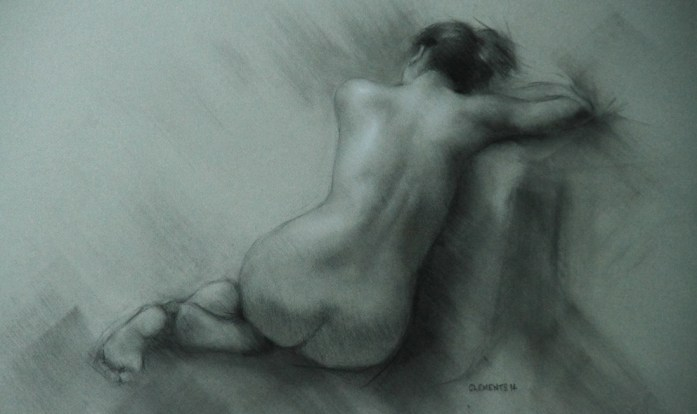 Charcoal Figure Study by Christopher Clements