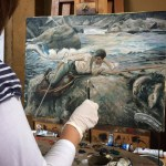 Northern Realist student Amanda Wragge working on a Sargent Master Copy