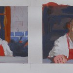 Underpainting studies by Christopher Clements