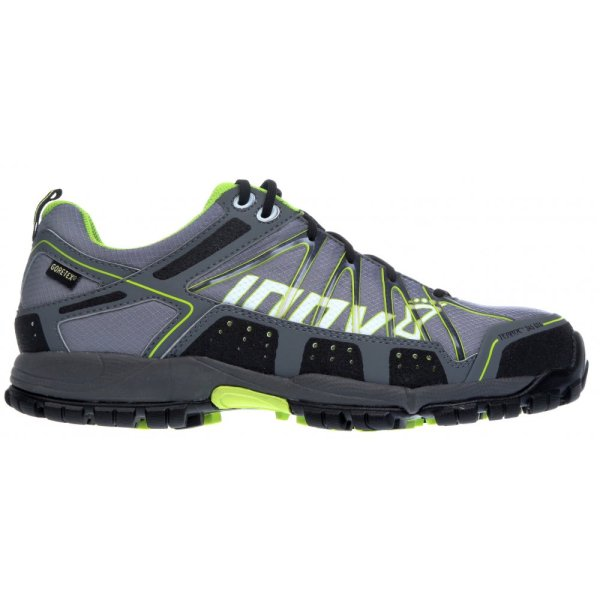 Inov8 Terroc 345 Gtx Waterproof Trail Running And Walking Shoes Black Lime