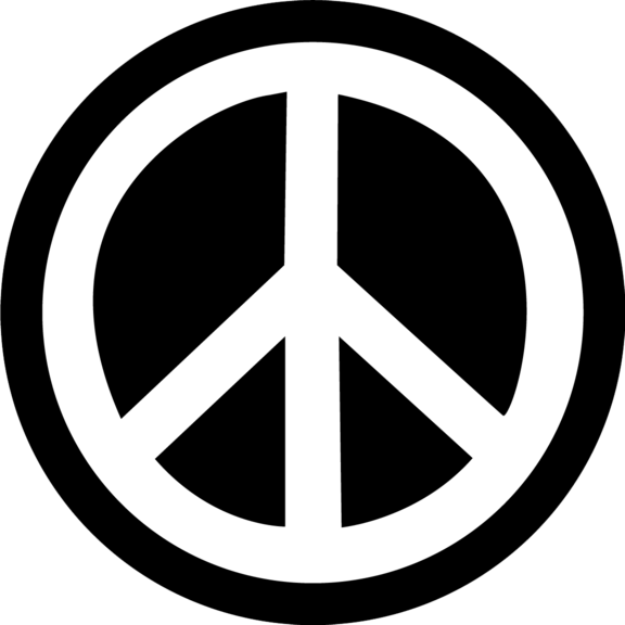 peace sign small button