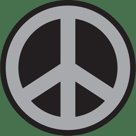 peace sign car emblem