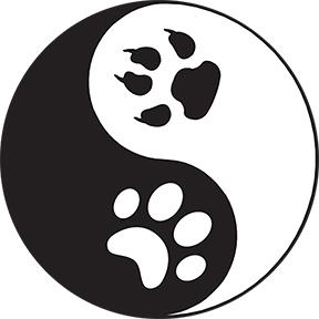 Paws Yin Yang Sticker