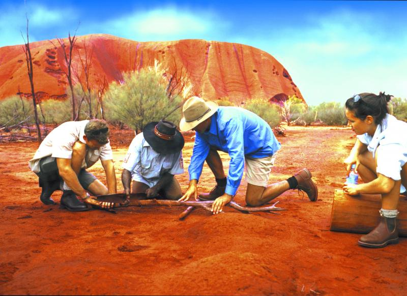 Ayers Rock Now Called Uluru  World Famous Attraction  Northern Territory