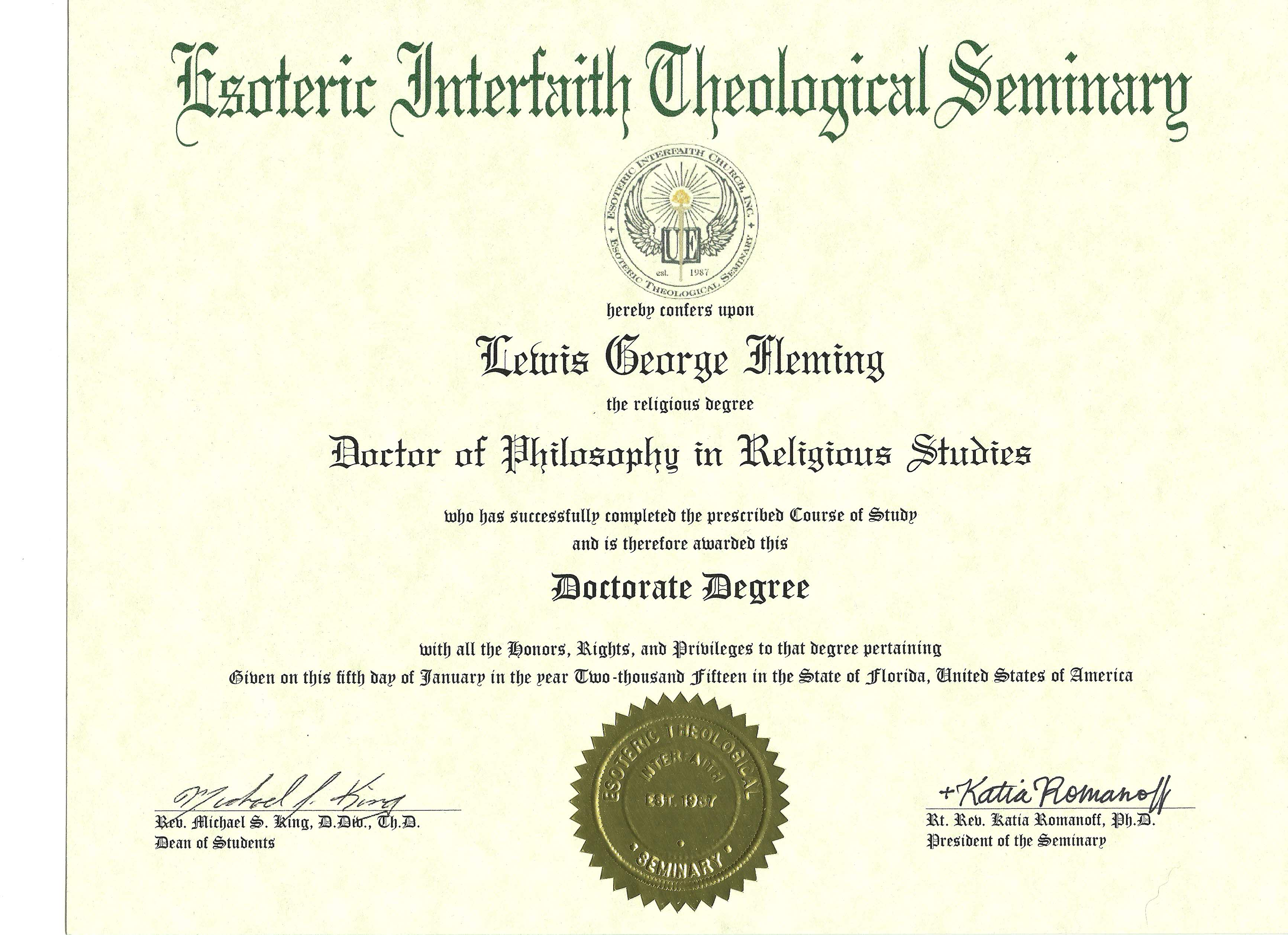Getting an Online Doctorate in Theology Level